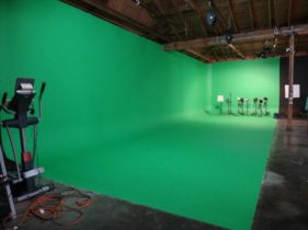 Green Screen Stage: 25 ft wide, 13 Ft high, 17 Ft deep